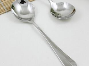 出口餐具批发sola 18/10不锈钢厚柄大号调羹西餐勺饭勺汤勺圆勺子,勺筷,