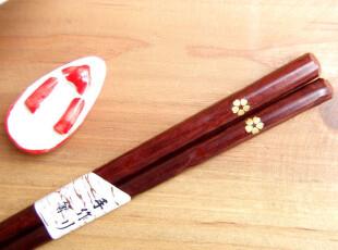 日式 波浪形 梅花著 筷子,勺筷,