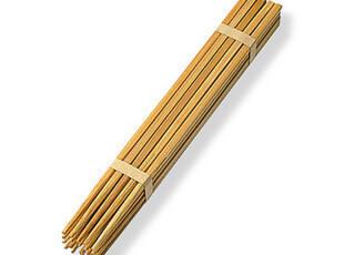 MUJI 无印良品 日本产 自然色竹筷/筷子 10双 23cm,勺筷,