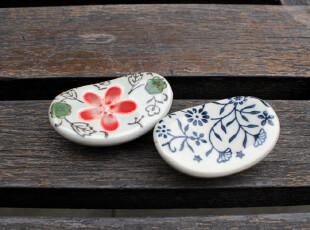 日式陶瓷器餐具 山田烧有田烧 和风 zakka 元宝筷架筷枕筷托,勺筷,