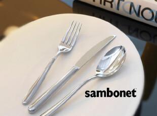 【镇店之宝】意大利设计Sambonet Hannah 流线手柄优质刀叉勺,勺筷,