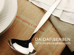 外贸DAMINO一体成型厚实手感优质优美大汤勺 盛汤勺,勺筷,