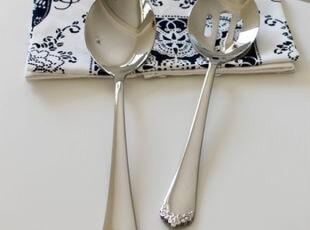 里德巴顿Reed&Barton 18/10优质不锈钢浮雕花分餐勺/漏勺,勺筷,
