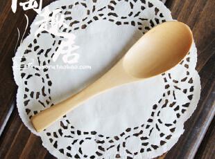 天然原木汤勺/拉面勺/调羹/餐具/木勺 日式餐具,勺筷,
