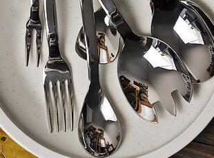 外贸原单 不锈钢 主餐勺 勺子 可爱蜗牛 水果叉 长柄勺 沙拉勺,勺筷,