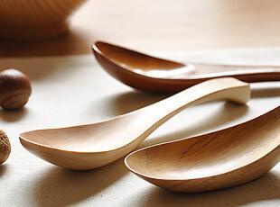 木制 小汤勺 勺子 3款,勺筷,