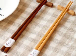 景商 和风|环保优质铁木筷子2双入带筷架 礼盒套装 日式便携Y102,勺筷,