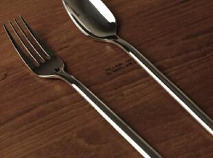 德国原单 中号全不锈钢叉勺 甜品叉勺 餐勺 完美质感 勺叉2件套,勺筷,