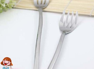 出口意大利PINTI 1929 INOX 不锈钢郁金香花型长柄西餐叉沙拉叉子,勺筷,