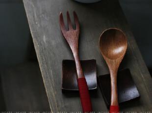 INCAFE| 红色 绕线叉子 日单勺 日单叉 日本餐具 勺子,勺筷,