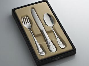 儿童婴幼儿 不锈钢西餐便携餐具 牛排叉刀勺 礼盒套装 健康材质,勺筷,