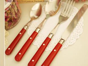热卖239套 西餐餐具套装/牛排刀叉勺 仅12.88元/4支装  5色可选,勺筷,