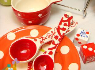美丽说推荐 勺子 韩国手绘刻花 汤勺/量勺 中号/小号 单售,勺筷,