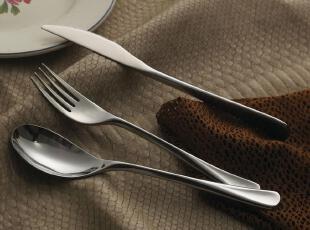 精锻304不锈钢西餐用具 牛排刀叉勺 贵族款人体工程流线型 包邮,勺筷,