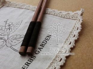 补货【日本制】若狭塗箸「うさぎ小紋」和风天然复古木筷子,勺筷,