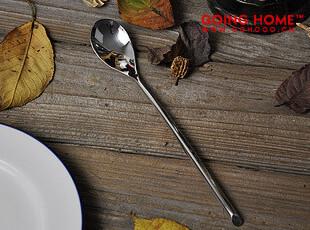 不锈钢 长柄斜边 餐勺 勺子 长柄勺,勺筷,