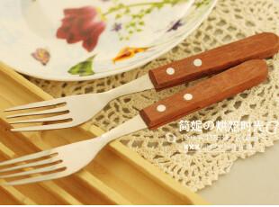 回归自然 木质风 返璞归真 牛油叉 叉子6.98元/支,勺筷,