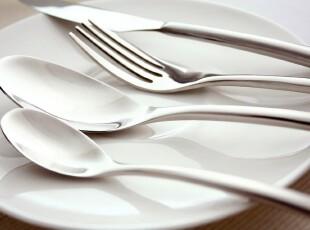 西餐餐具 西餐 餐具 套装 意大利顶级设计sambonet 完美曲线4件套,勺筷,