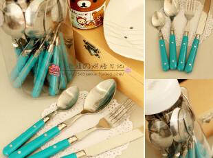 西餐餐具套装/牛排刀叉勺 仅9.99元/3支装 5色可选 蓝,勺筷,
