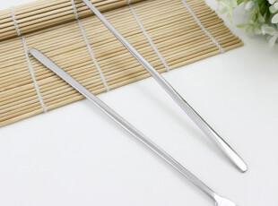 韩国不锈钢餐具筷勺批发可爱创意三齿长柄水果叉子甜品叉子水果签,勺筷,