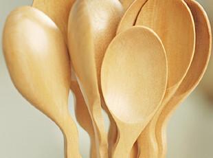 弯曲柄小木勺 原木勺 婴儿勺 儿童勺 经典日式 咖啡勺 zakka风,勺筷,