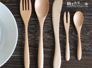 日式木制餐具 西式原木餐具套装 日本畅销款 刀叉勺,勺筷,