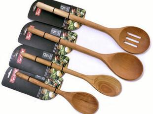 英国SUPERCOOK, 樱桃木长柄木勺 沙拉勺 搅拌勺 四款可选,勺筷,
