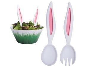 美国代购 RABBIT EARS  兔耳朵叉子勺子 色拉碗 国内现货,勺筷,