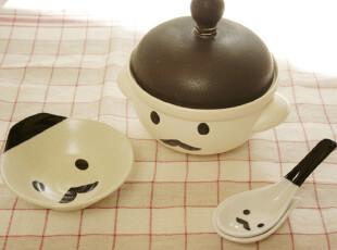 「韩居屋」可爱大胡子爷爷汤匙 韩国进口汤勺 勺子 卡通饭勺PU025,勺筷,