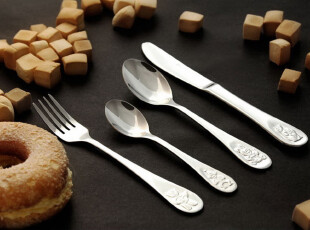 德国Auenberg18/10不锈钢儿童餐具刀叉勺(质比WMF,双立人),勺筷,