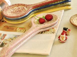 C'designer.卡卡西里风情手绘艺术陶瓷大饭勺.11款任选.装饰勺,勺筷,