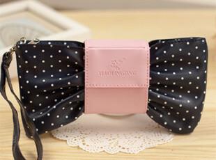【满39包邮】日韩国文具 创意文具盒 可爱蝴蝶结 手拿化妆包 笔袋,化妆包,