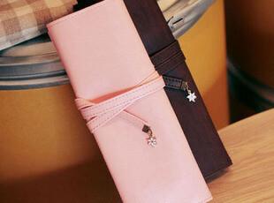 满9.9包邮[1600]日韩文具 樱花之恋皮质大容量化妆袋 笔袋化妆包,化妆包,