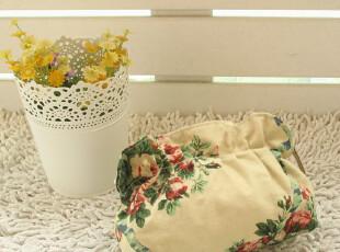 日本订单 森系甜美花柄 可爱褶皱化妆包 收纳包 手拿包,化妆包,