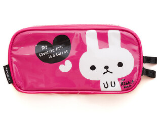 日系 白兔/猫咪漆皮防水PU化妆包/笔袋/洗漱包2款3830 0.07kG,化妆包,