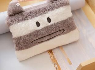日单accent梨花条纹熊小丑熊毛绒化妆包 收纳包 零钱包,化妆包,