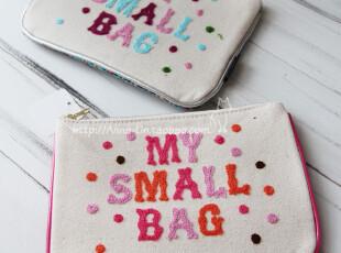 【anna.lin】日本毛线字母杂物包 化妆包 双色入,化妆包,