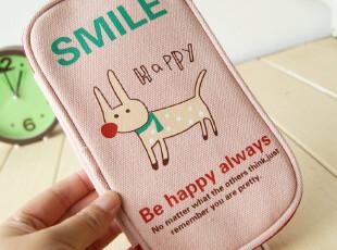 创意文具 天克轻松派可爱动物方形帆布拉链笔袋|文具袋|化妆包,化妆包,