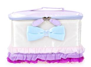 草莓半塘 冰淇淋色蝴蝶结蕾丝 化妆用品收纳箱/化妆包4529 0.4kg,化妆包,
