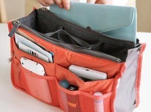 韩国多功能 收纳袋整理袋 化妆包袋大号 双拉链包中包 双层包中包,化妆包,
