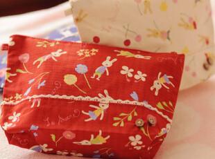 日单 砂糖兔 日式和风 收纳包 化妆包 3款选,化妆包,