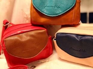 拼色 PU皮质感 单肩小包 可当手包化妆包杂物包零钱包。。3色,化妆包,