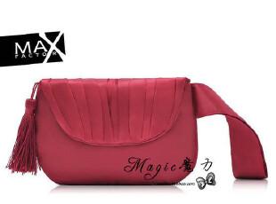 外贸精致化妆包 缎面褶皱酒红色流苏女士小手包 零钱包  女式包包,化妆包,