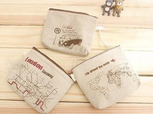 ZAKKA风格 棉麻化妆包 零钱袋 布艺收纳袋 日式和风手机包 三款,化妆包,