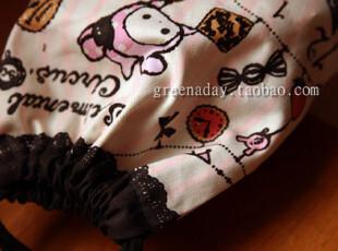 SAN-X忧伤马戏团 棉布 插图束口袋 收纳袋 杂物袋 化妆包 收纳包,化妆包,