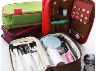 默默爱♥韩国时尚 女款简约纯色 多功能手拿包 双面收纳包化妆包,化妆包,