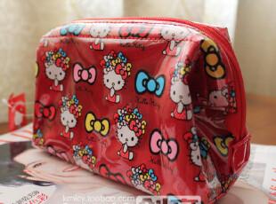 可爱实用 大红蝴蝶结款KT化妆包 PVC防水化妆袋/收纳袋/收纳包,化妆包,