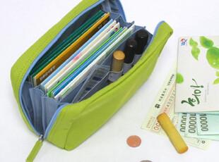 【BBL】正品韩国文具full多功能帆布存折包|理财包|化妆包|绿,化妆包,