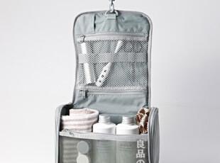 2012 MUJI 無印良品 尼龙盒型洗漱包/化妆包/收纳包 吊挂式 黑色,化妆包,