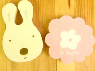 【韩国进口家居】*来自日本*可爱小兔花朵洗碗巾2P装 n0828,